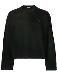 Raf Simons Knitted Cropped Jumper Black