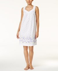 Charter Club Border Print Short Nightgown Only At Macy's Daisy Border