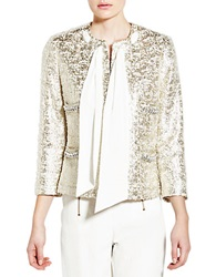 Pink Tartan Glazed Jacket Silver Cream