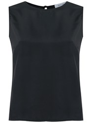 Isolda Sleeveless Silk Blouse Women Silk 40 Black