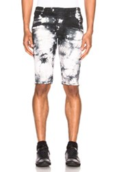 Balmain 7 Pocket Shorts In Black Ombre And Tie Dye Black Ombre And Tie Dye