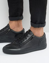Hugo By Boss Futurism Double Zip Trainers Black