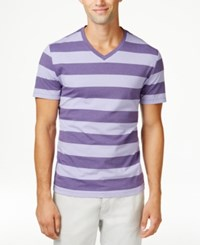 Alfani Red Men's Wide Stripe V Neck T Shirt Only At Macy's Lush Lilac