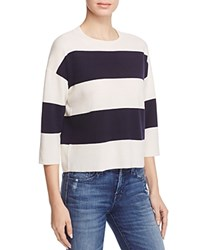 J Brand Estero Striped Sweater Cream Black Iris