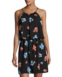 Cynthia Steffe Floral Delight Halter Dress Black