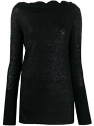 Patrizia Pepe Slim Fit Jumper Black
