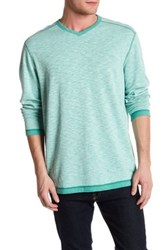 Tommy Bahama Seaglass Reversible V Neck Pullover Green