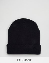 Reclaimed Vintage Oversized Beanie In Navy Navy