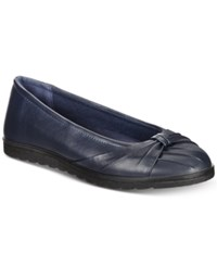Easy Street Shoes Giddy Flats Women's Navy