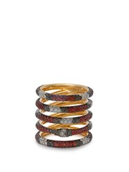 Gucci Kingsnake 18Kt Gold Diamond And Topaz Ring Gold