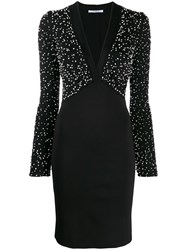 Givenchy Embroidered Knit Dress Black