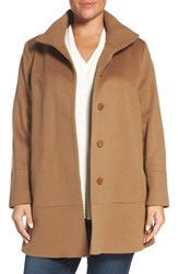 Fleurette Plus Size Women's Loro Piana Wool Car Coat Vicuna