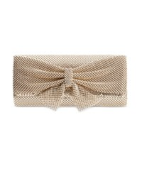 Styleandco. Style And Co. Mesh Bow Clutch Only At Macy's Light Gold