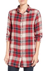 Jag Jeans Women's 'Magnolia' Plaid Tunic Red Wagon