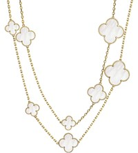 Van Cleef And Arpels Magic Alhambra Gold Mother Of Pearl Necklace Yellow Gold