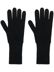Allude Knit Gloves Black