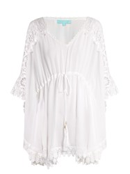 Melissa Odabash Roby Macrame Lace Trimmed Dres White
