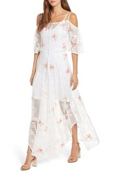 Kas New York Luna Lace Maxi Dress White