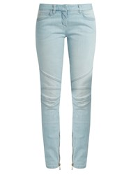 Balmain Low Rise Skinny Jeans Light Blue