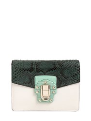 Dolce And Gabbana Lucia Python Leather Shoulder Bag
