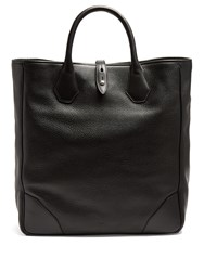 Dunhill Boston Leather Tote Black