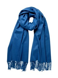 Johnstons Of Elgin Cashmere Stole Blue