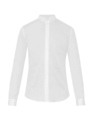 Wooyoungmi Grandad Collar Cotton Poplin Shirt