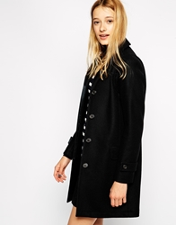 Gloverall Longlined Wook Mix Coat Black