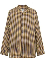 Wooyoungmi Standard Checked Shirt Yellow