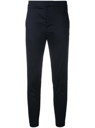 Eleventy Cropped Trousers Blue