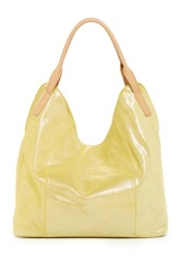 Sondra Roberts Metallic Leather Hobo Bag Yellow