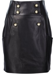 Alexandre Vauthier Buttoned High Waisted Skirt Black