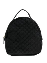 Tosca Blu Quilted Small Backpack Black