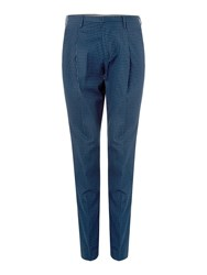 Michael Kors Men's Tapered Fit Casual Tailored Trousers Dark Blue