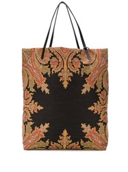 Etro Patterned Tote Bag Neutrals