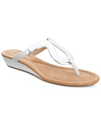Alfani Women's Farynn Wedge Sandals Only At Macy's Women's Shoes White