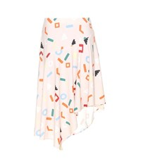 Edit Printed Crepe Skirt Multicoloured