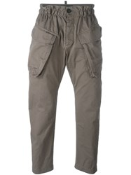 Dsquared2 Elasticated Waist Cargo Trousers Grey