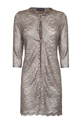 James Lakeland Lace Scalloped Jacket Gold