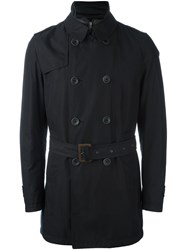 Herno Double Breasted Padded Coat Black