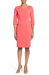 Women's Classiques Entier Notch Neck Ponte Sheath Dress