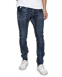 One Teaspoon Mr. Bones Distressed Jeans Indigo Empire