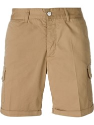 Hydrogen Embroidered Skull Cargo Shorts Nude And Neutrals