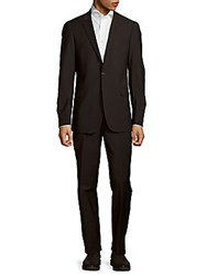 Todd Snyder Mayfair Modern Fit Wool Blend Suit Charcoal