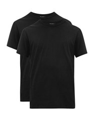 Reigning Champ Set Of Two Cotton Jersey T Shirts Black