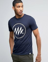 Jack And Jones Geometric Print T Shirt Navy
