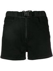 Versus Buckle Fastening Shorts Black