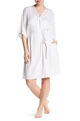 Barefoot Dreams 3 4 Dolman Sleeve Short Robe Plus Size White