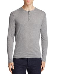 Boss Orange Koastly Long Sleeve Henley Tee Light Pastel Gray