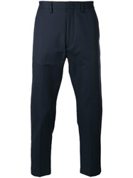 Pence Cropped Tailored Trousers Blue